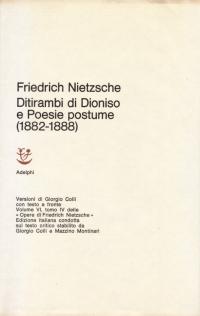 Copertina libro: Ditirambi di Dioniso e poesie postume (1882-1888)