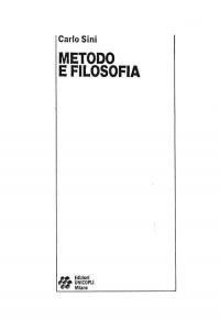 """Carlo Sini, """"Metodo e filosofia"""" (frontespizio)"""