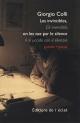 Copertina libro Les invincibles, on les tue par le silence. Gli invincibili, li