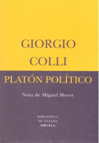 Giorgio colli, Platón político