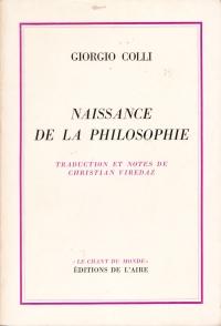 Giorgio Colli, La naissance de la philosophie