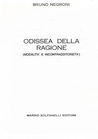 """Frontespizio di Bruno Negroni, """"Odissea della ragione"""", Solfanelli 1984"""