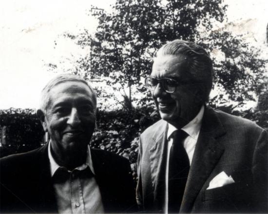 Luciano Foà con Giorgio Colli, anni '70.