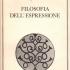 Copertina prima edizione di filosofia dell'espressione